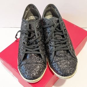NWT No Angel black glitter shoes sz 11